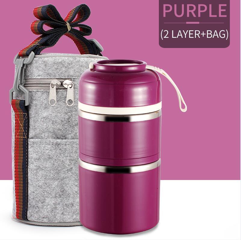 Portable Edelstahl Thermal Lunch Box für Office Lunchbox Leakproof Thermos-Mittagessen-Kasten-Nahrungsmittelbehälter