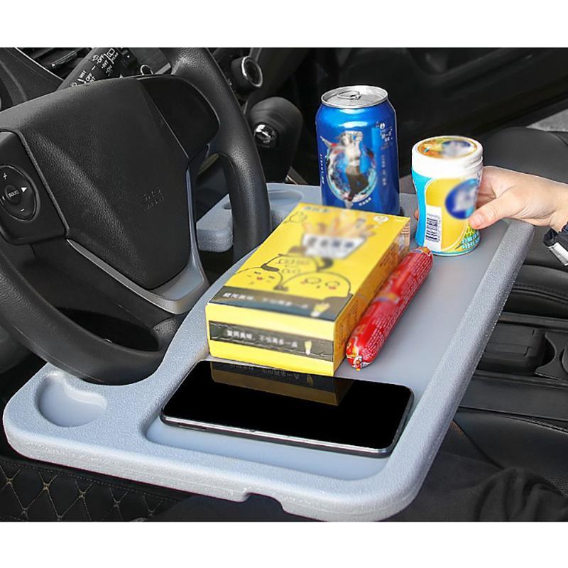 htmotostore1 multifunzionale auto Laptop supporto per notebook scrivania Steering automatica vassoio bevande Holder Volante Small Card Tavolo Vassoio auto