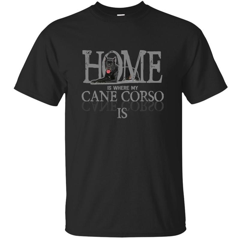 Amante Doggie Dog respirável Cane Corso da raça novidade Pet Animal T-shirt do presente Sólidos T shirt dos homens de cores Big Size 5XL ~ S T Tops