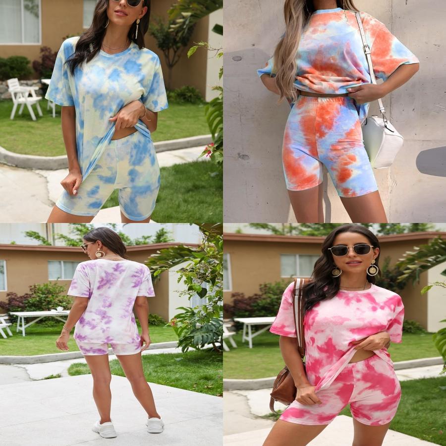 Femmes Dener Yoga Costume Courir Sport à manches courtes Sweatsuit transparente Fitness Tight Yoga Shorts Costume Deux 1Pcss Ensembles Vente Hot # 343
