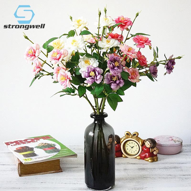 Strong Nordic Single Eisberg Rose Blume künstliche Blume Gefälschte Seide Hochzeit Fotografie Home Decoration