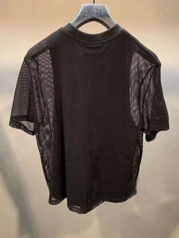 AAW128 Perspektive Neuer Brief Printing Netting Strapless gefälschte zweiteilige lose kurze Hülsen-Frauen-T-Shirt weibliche Top A2