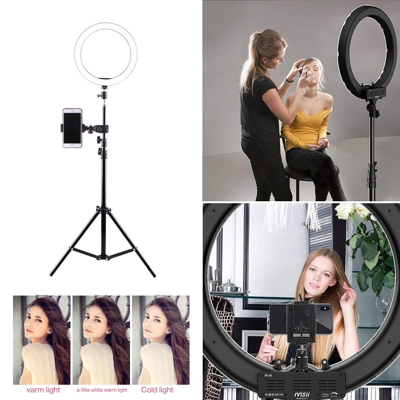 Camera fábrica LED Beleza Luz Anel Photo Studio Video Phone Fotografia Regulável lâmpada Anel + Tripé para selfie