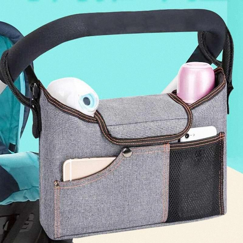 Universal caliente ligero de la bolsa de pañales del basculador del cochecito de bebé Organizador Accesorios LwLF #