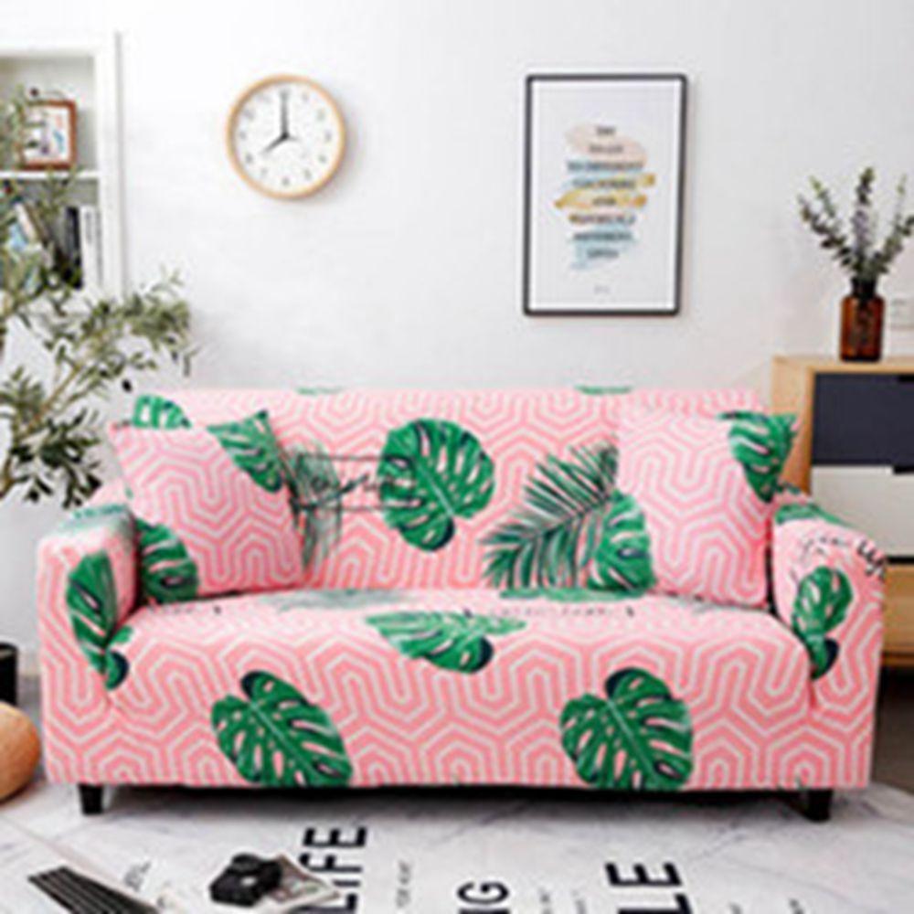 Schöne rosa Sofa Abdeckung elastische Couch Abdeckungen für Sofas Wohnzimmer Multi-Person Klassik von Wohnmöbel-Schutz-Abdeckung
