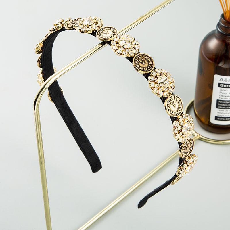 Baroque Flash Diamond ins alliage femmes hairband tout match rue tir Corée Voyage accessoires pour cheveux célébrité Internet