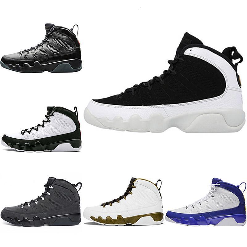 El diseñador del mens 9 9s Bred zapatos de baloncesto LA Space Jam El Espíritu de los hombres ocasionales de los deportes Formadores tour amarillo tamaño atlético zapatillas 8-13