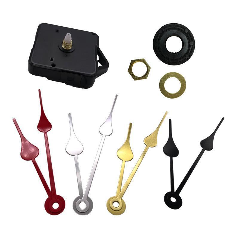 Accueil Horloges Bricolage Mouvement Quartz Horloge Kit Noir Accessoires Horloge Réparation Mécanisme de broche avec les jeux à la main Longueur de l'arbre 13 Meilleur
