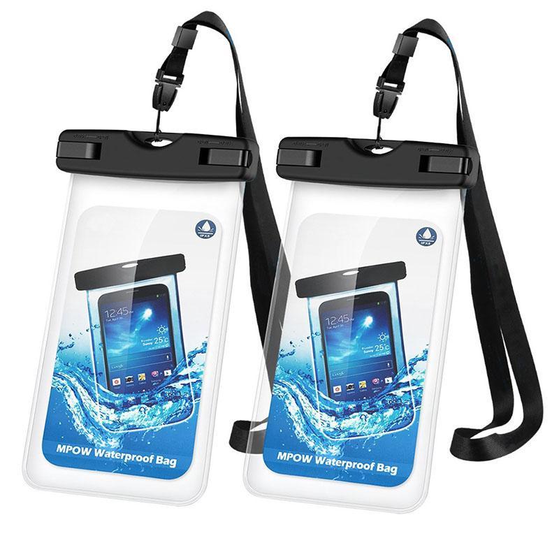 الحبل العالمي للماء حقيبة الهاتف المحمول، IPX8 مصدق وشارة حقيبة الهاتف للماء، ومناسبة لجميع بوصة 6.3 وأقل المحمول