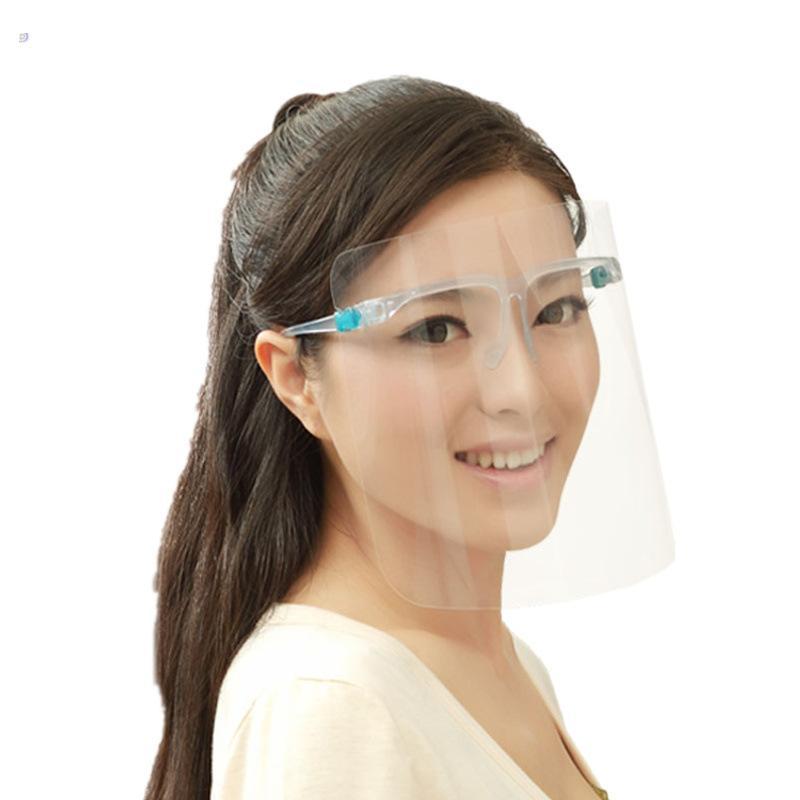 투명 PET 마스크 플라스틱 보호 마스크 보호 얼굴 쉴드 클리어 안티 - 안개 풀 페이스 마스크 투명 바이저 커버 CYF4264-1 마스크