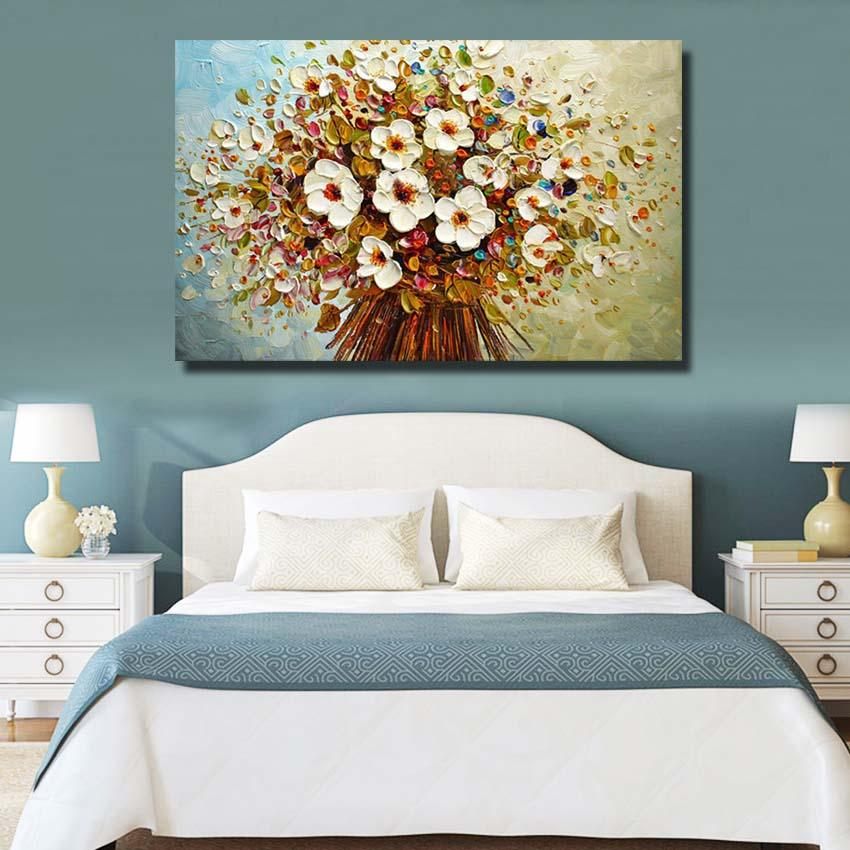 Free Shipping Fashion 100%Handmade Abstract Flowers Oil Painting on Canvas Pictures Wall Image Picture Room Home Decor No Frame