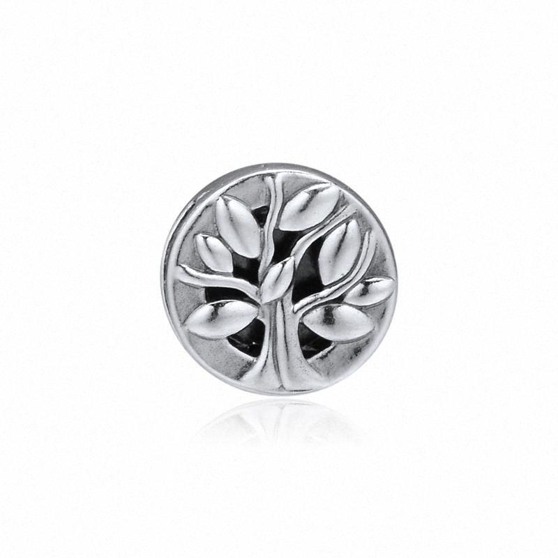 Grânulos de prata 925 Reflexões Árvore da Vida Clipe encanto para fazer jóias Fit Reflexões Pulseira DIY real prata esterlina 925 C74 SSIM #
