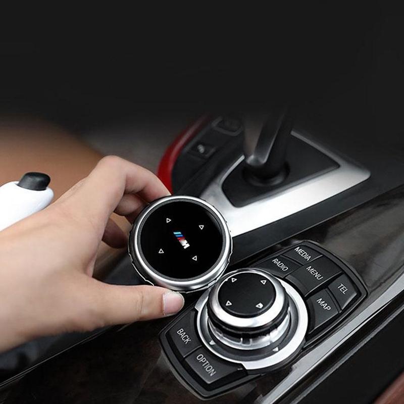 자동차 멀티미디어 버튼 커버 스티커 BMW 3 5 시리즈 X1 X3 X5 X6 F30 E90 E92 F10 F18 F11 F07 GT Z4 F15 F16 F25 E60 E61 액세서리 인테리어