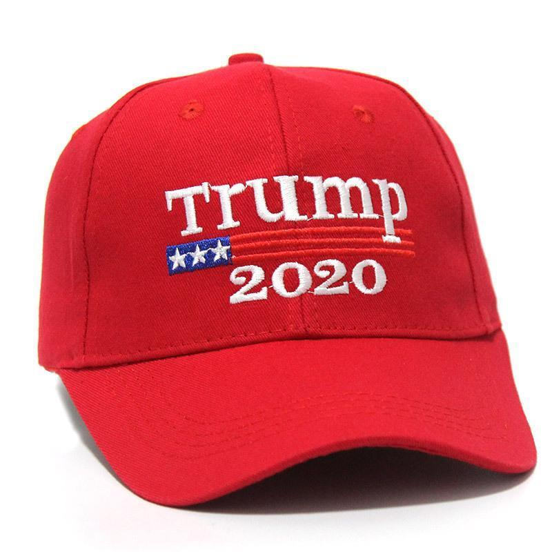 США СТОК! Trump 2020 Keep America Great 2 Стили вышивки хлопка Регулируемые дышащий Hat бейсболке Открытый Женщины Мужчины Caps FY6064