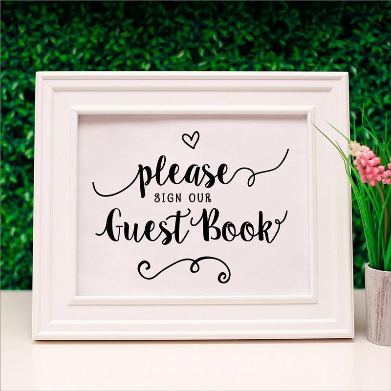 Assinar o livro de casamento Livro de visitas Por favor Assinar Recepção Nosso Livro de Visitas de tela impressões casamento Decor Poster Wedding Sign