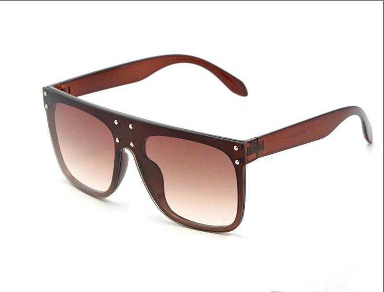 Gafas de sol 2019 tendencia de la versión coreana de la estrella de las gafas de sol de conducción super grande cuadro negro súper vidrios de las mujeres 2866