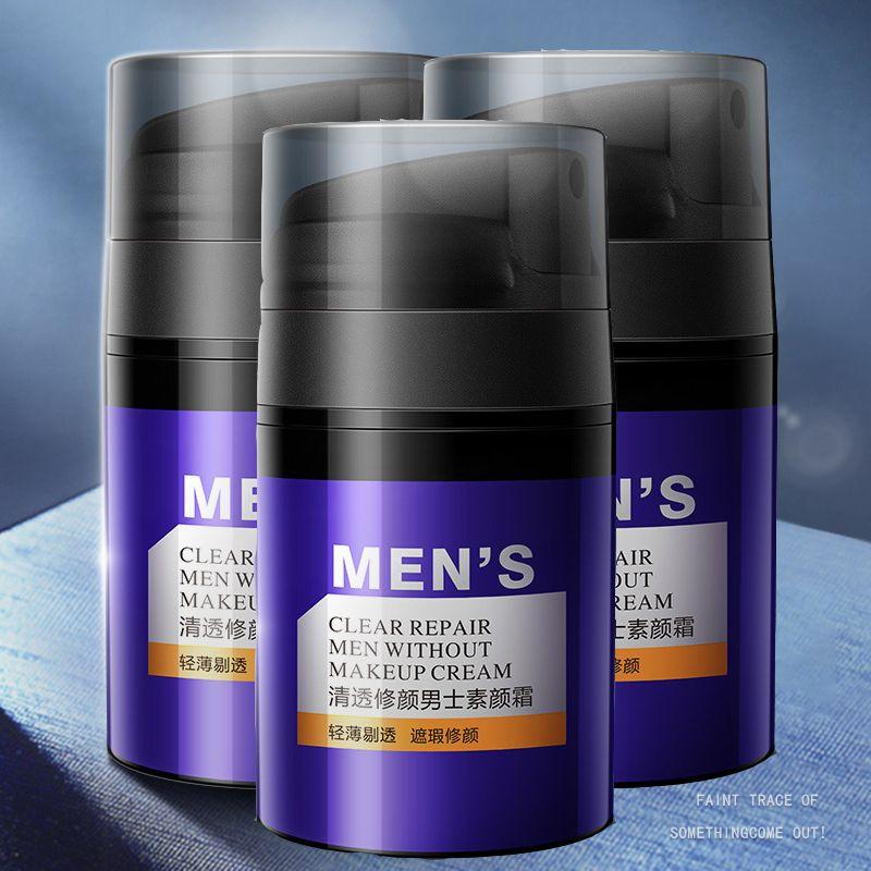 Facile à pousser couverture pores forte mobilité Couvrir les cercles noirs ne font aucune Démaquillage Réduire brillance des hommes de réparation clairs sans crème de maquillage