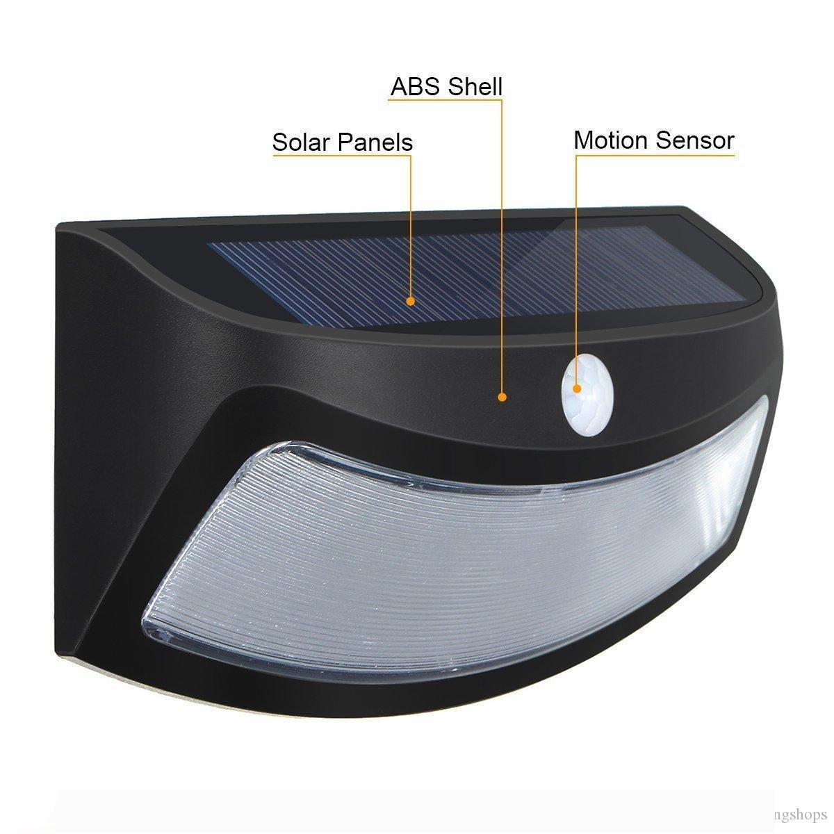 Güneş Adım Işıklar Açık Işık Kumanda Duvar Işıklar 4 LED'ler Güneş Güverte Kapı Garden için Sundurma Lambası Gülen