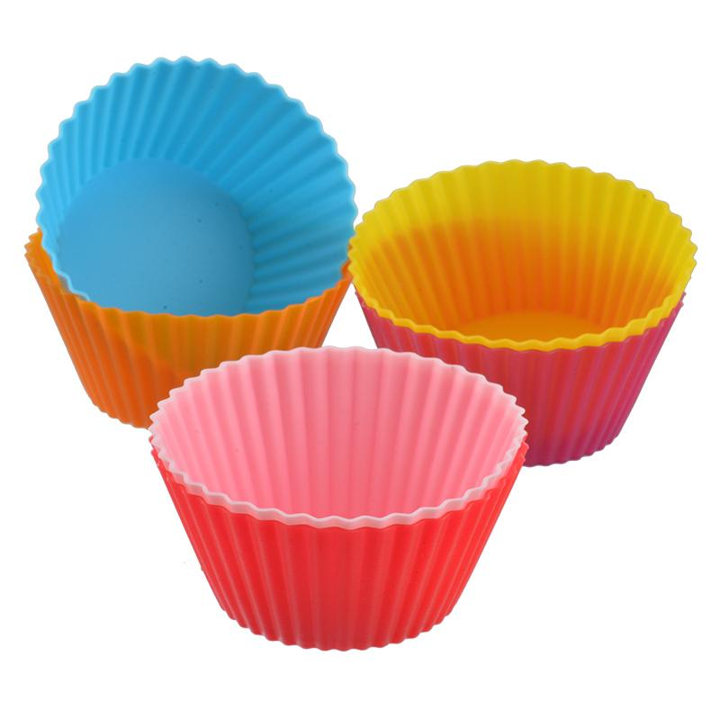6 Color Silicone Muffin Cake Cupcake Mould Case Bakeware Maker Mold Tray Baking Cup Jumbo Mould