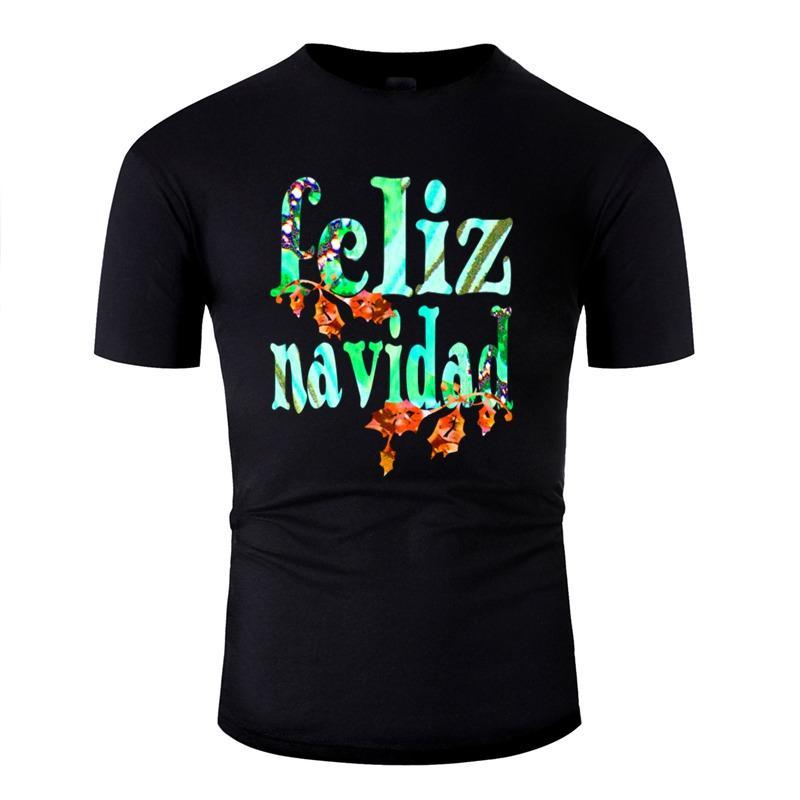 Дизайн футболки для мужчин Юмористическая Комиксы Wordtease Коллаж Feliz Навидад (Холли) Greenz футболки Классический высокого качества