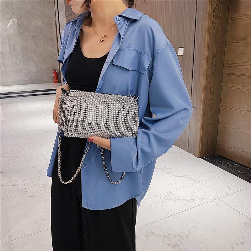 2020 Damen Umhängetasche Sommer Strass Tasche süße Dame Modetrend einfach einzelne Schulter diagonal Handtasche