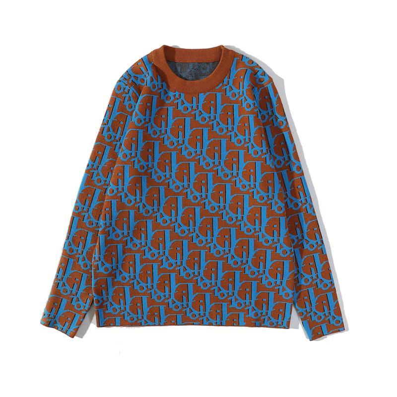 19ssnew famoso suéter carta de diseño para los hombres y mujeres de alta calidad alrededor del cuello de manga larga jersey de punto bordado ocasional del tamaño sudadera