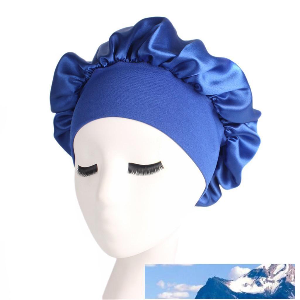 Lange Hair Care Women Fashion Satin Bonnet Cap Nachtschlaf Hut Silk Cap-Kopf-Verpackung Schlaf Hat Haarausfall