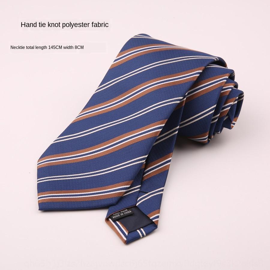 Mağaza 8 cm erkek iş abiyeler kravat çizgili ekose Suit Suit damat düğün Kore tarzı iş kariyer koyu kırmızı