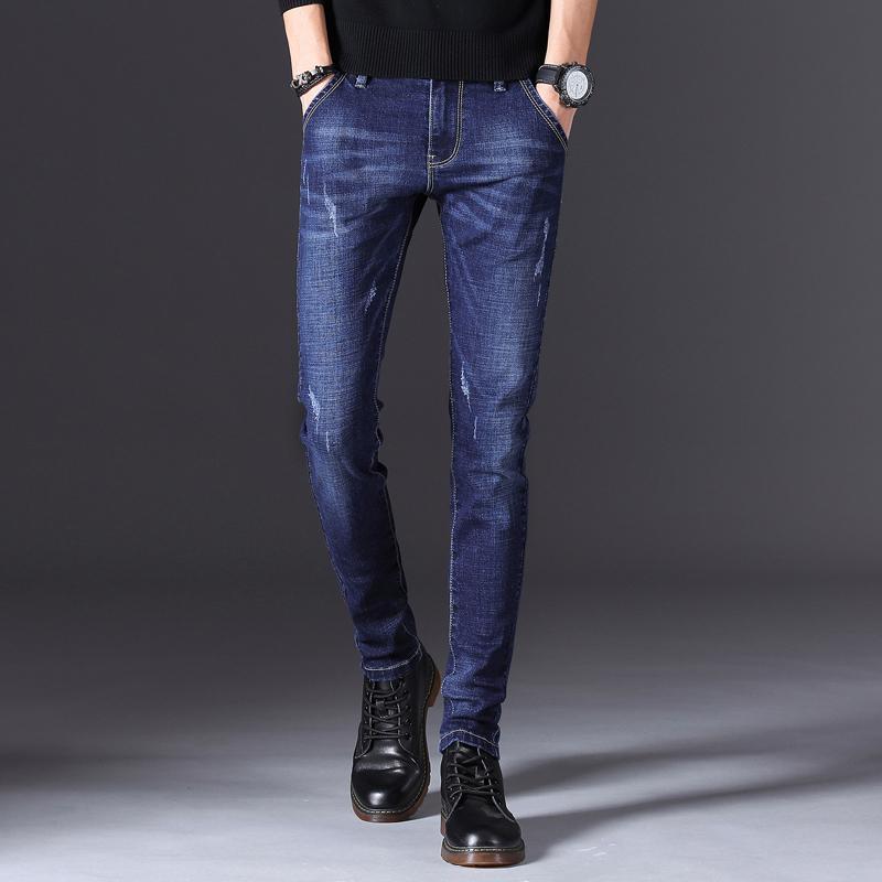 Top Quality 2020 moda Casual Jeans Reta fino para homens Hot Vendas calças compridas para o sexo masculino