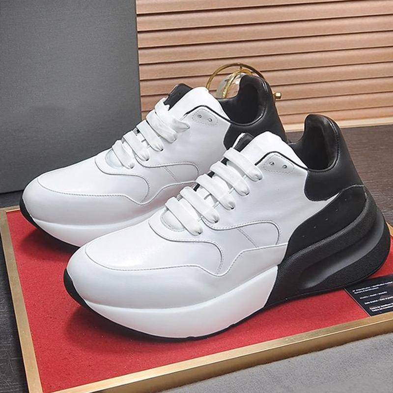 Nueva llegada de gran tamaño Runner zapatos para hombre clásico de la manera Zapatillas Hombre lujo de la vendimia respirable con cordones de las zapatillas de deporte -Up hombres zapatos cómodos