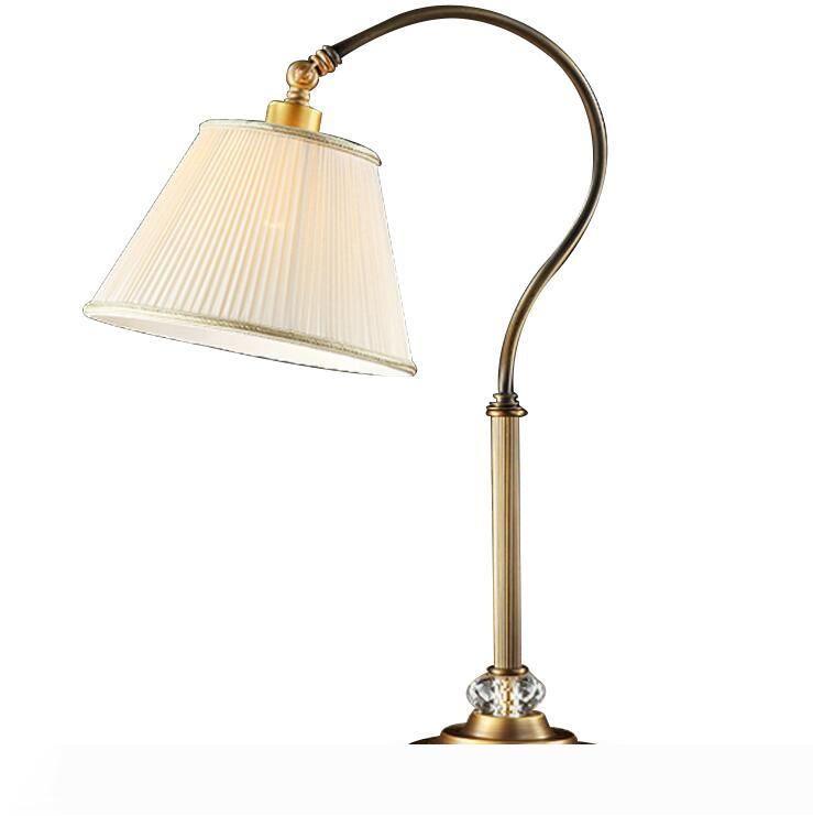 Protezione degli occhi dimmerabile lampada da tavolo di studio ufficio camera da letto lampada da comodino creativa arte del ferro americano lampada da tavolo LR014