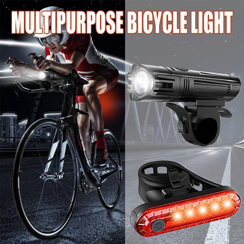 Luz DEL recargable Para Bicicleta luzde Faro frontal más Luz Traser Envío GRATIS