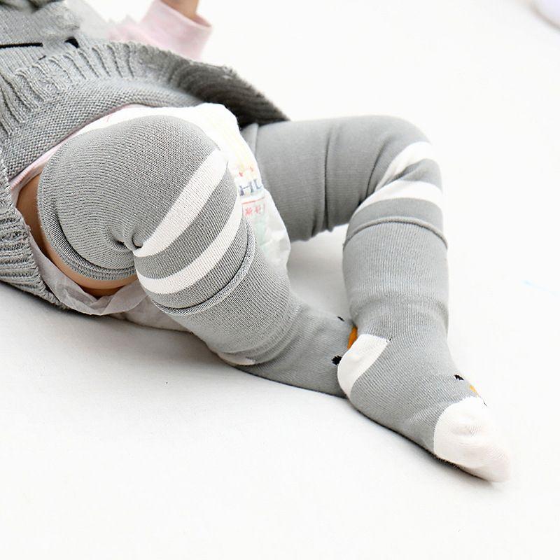 0-4T младенец гетры + носков набор Мальчик Девочка Симпатичное животное печать носки Весна Осень