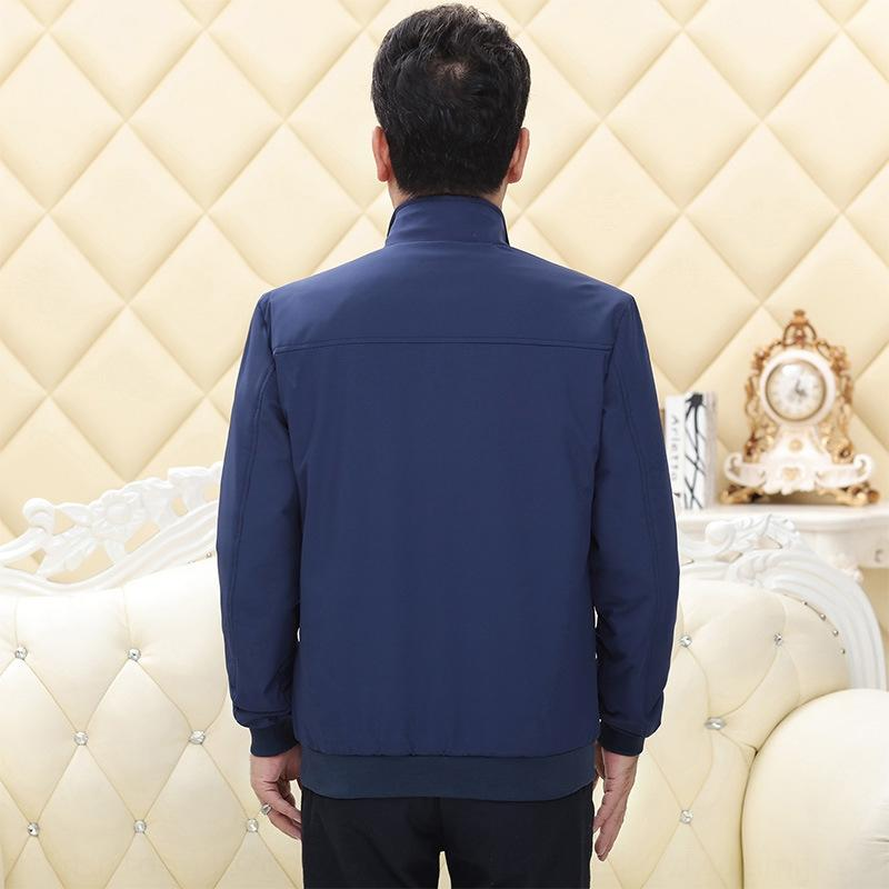 coat 2020 in spring and autumn middle aged Daddy loose clothes Jacket clothes stand collar men's casual jacket men's