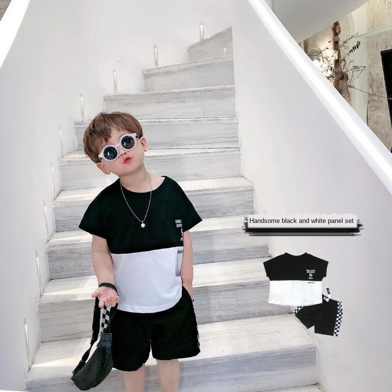 vestito estate del bambino alla moda di usura e pantaloncini Czw0l ragazzi dei bambini short a maniche corte a due pezzi dei vestiti vestito dei bambini di moda coreana 20