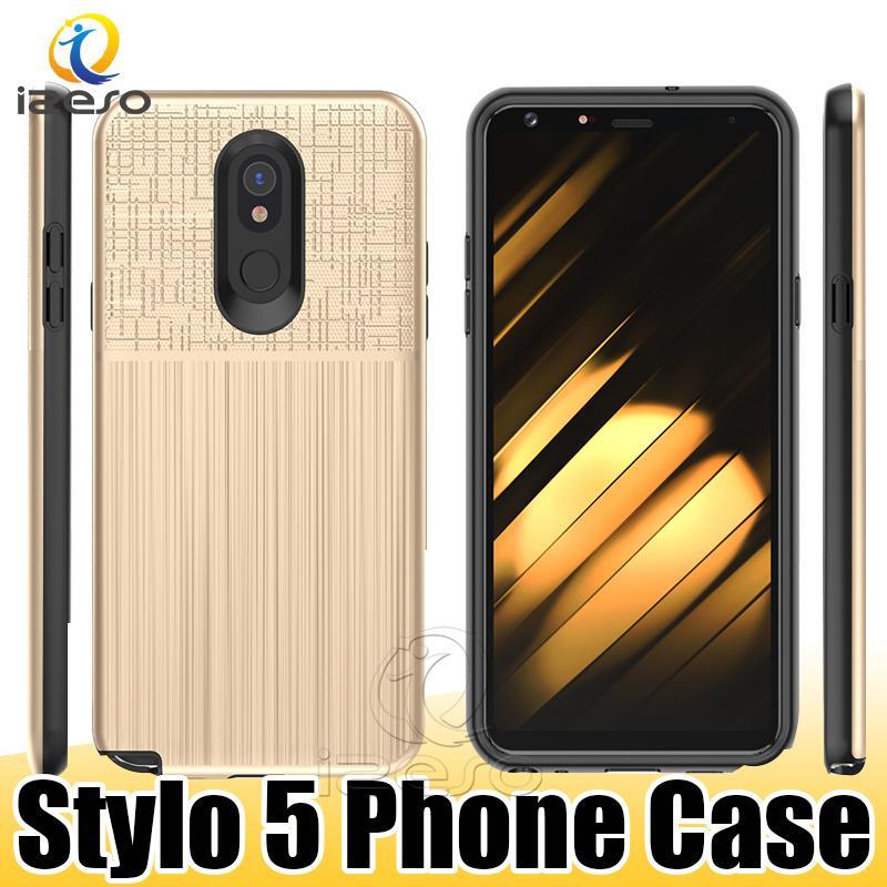 Per LG Stylo 5 K40 Q8 iPhone G7 Thin 11 Pro XS Max XR lusso design posteriore casi della copertura resistente agli urti Crashproof caso izeso