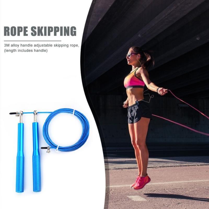 Portáteis treino ajustável Sports Perde Rope Skipping Peso Training Fitness Equipment rápida velocidade antiderrapante Jumping Rope