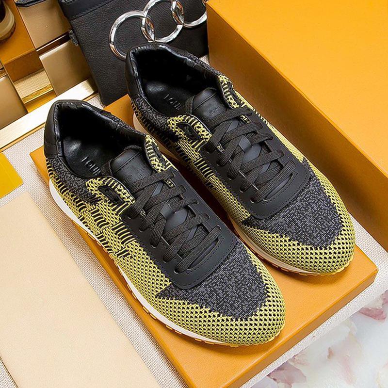 Sapatos Masculinos Luxo Run Away Sneaker Shoes Moda Tipo Zapatos Para Hombre Calçados Entrega rápida Mens Casual Shoes sola de borracha design