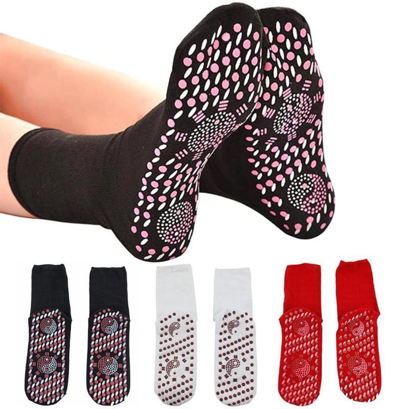 Spor Masajı Çorap Rahat Nefes Turmalin Mıknatıs Terapisi Masaj Kış Kendinden Isıtma Sağlık Ayak Bakım Çorap
