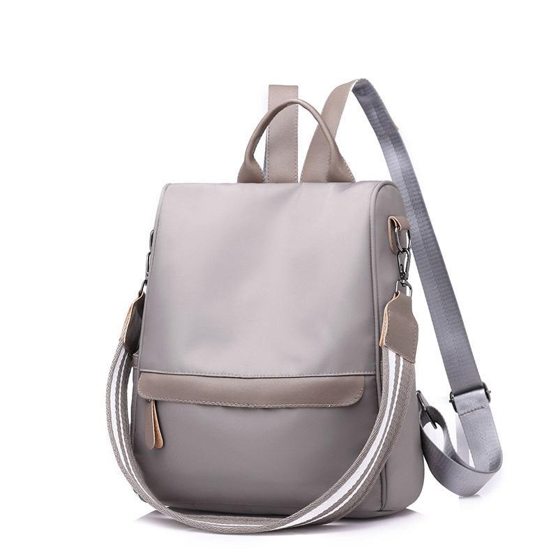Женщины путешествия Кожа Рюкзак Дорожная сумка Противоугонная Ткань Оксфорд Дорожная сумка Противоугонная Ткань Оксфорд рюкзак сумка