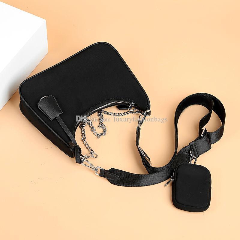 المحافظ حقائب الكتف 2020 فاخر مصمم جودة عالية من النايلون حقائب ذائع المحفظة حقائب النساء CROSSBODY حقيبة الأفاق مع مربع