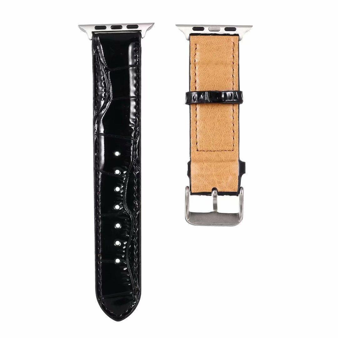 NUEVA alta calidad correas de reloj de 38 mm 40 mm 42 mm 44 mm para la Serie 5 4 3 2 1 pulsera de reloj del cuero de la pulsera de la correa correas