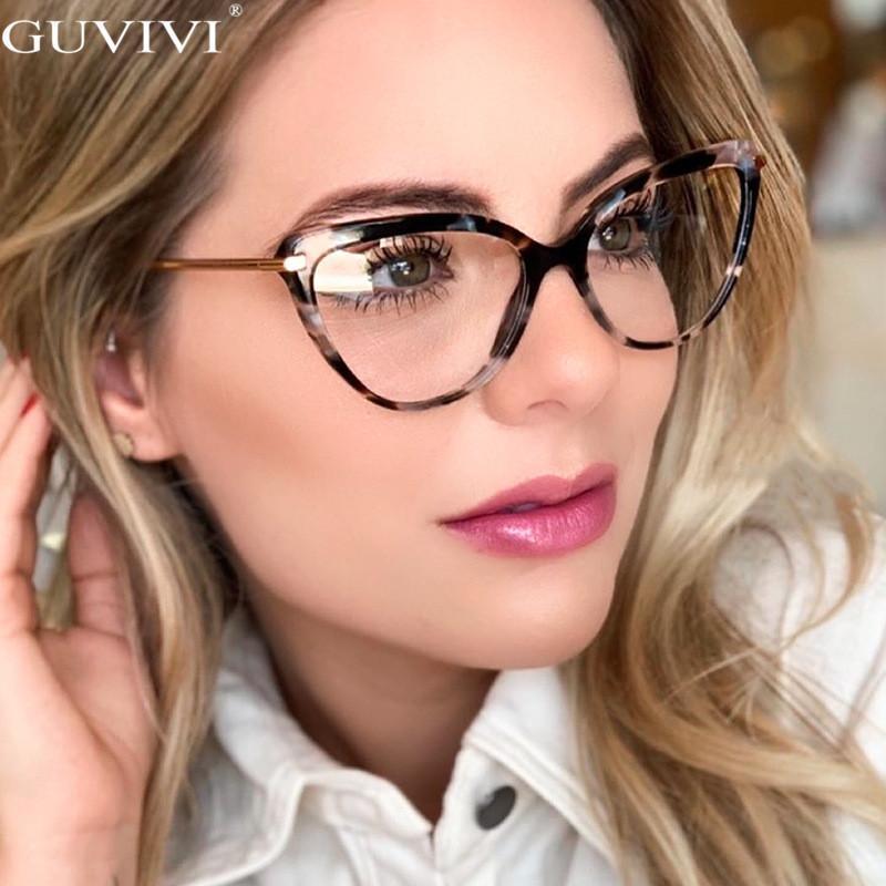 Mode Chat Cadres Lunettes pour les femmes à la mode Marque Sexy Lunettes Cadres Objectif optique clair Computer lunettes Oculos Armacao