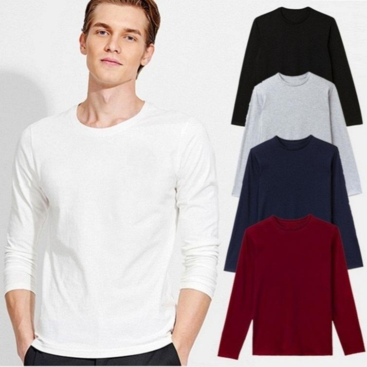 off white New Mens Basic T Shirts Longline Zipper Designer Langarm-O-Ansatz Normal Blätter männliche beiläufige Art Side ZOBT
