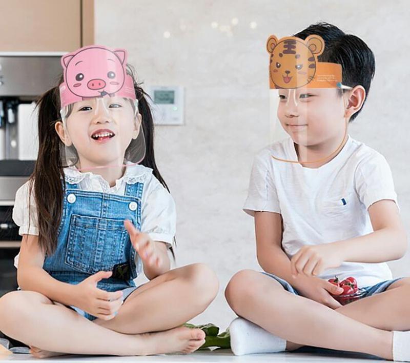10pcs / lot scherza fronte pieno schermo maschera protettiva visiera della maschera di protezione anti saliva antipolvere in plastica anti Splash copertina fronte pieno