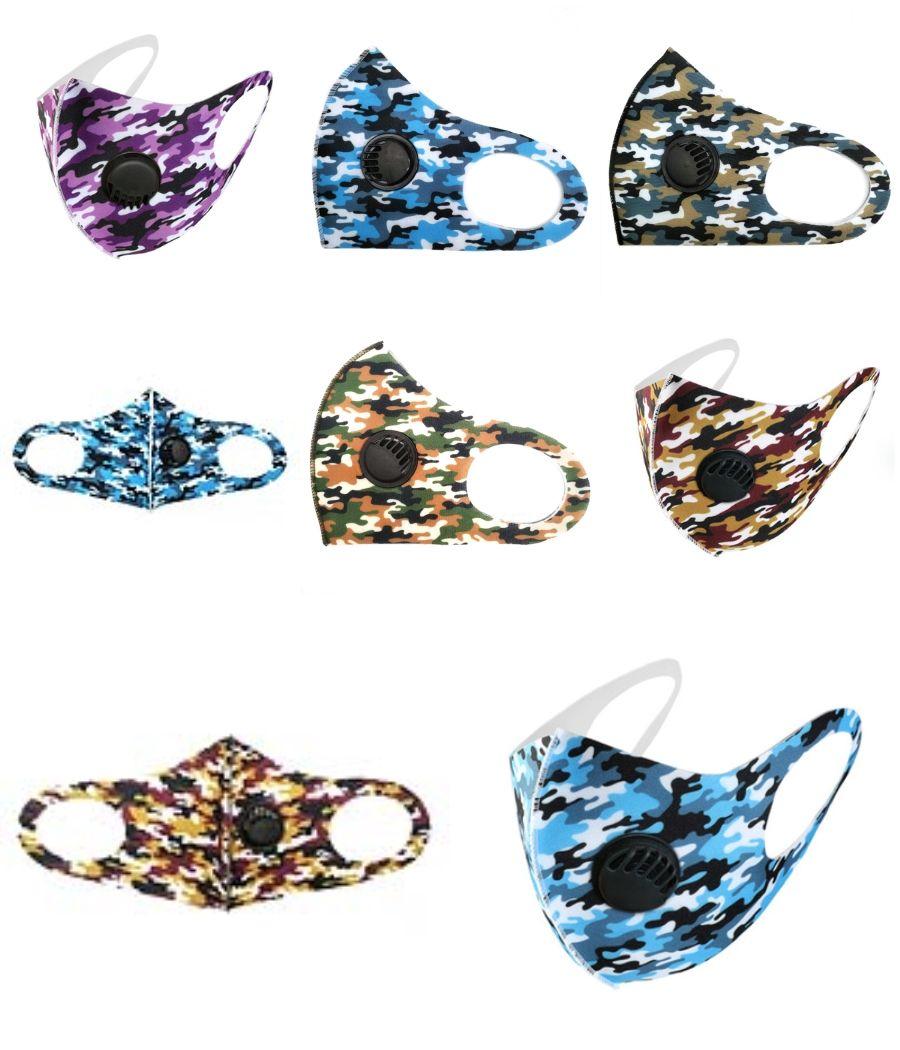 Diseñador impresa boca Máscara Máscara de lujo lavable a prueba de polvo Equitación Ciclismo Deportes florales Máscaras impresión de la moda para hombres y mujeres 10 1 1Pcs # 1 # 192