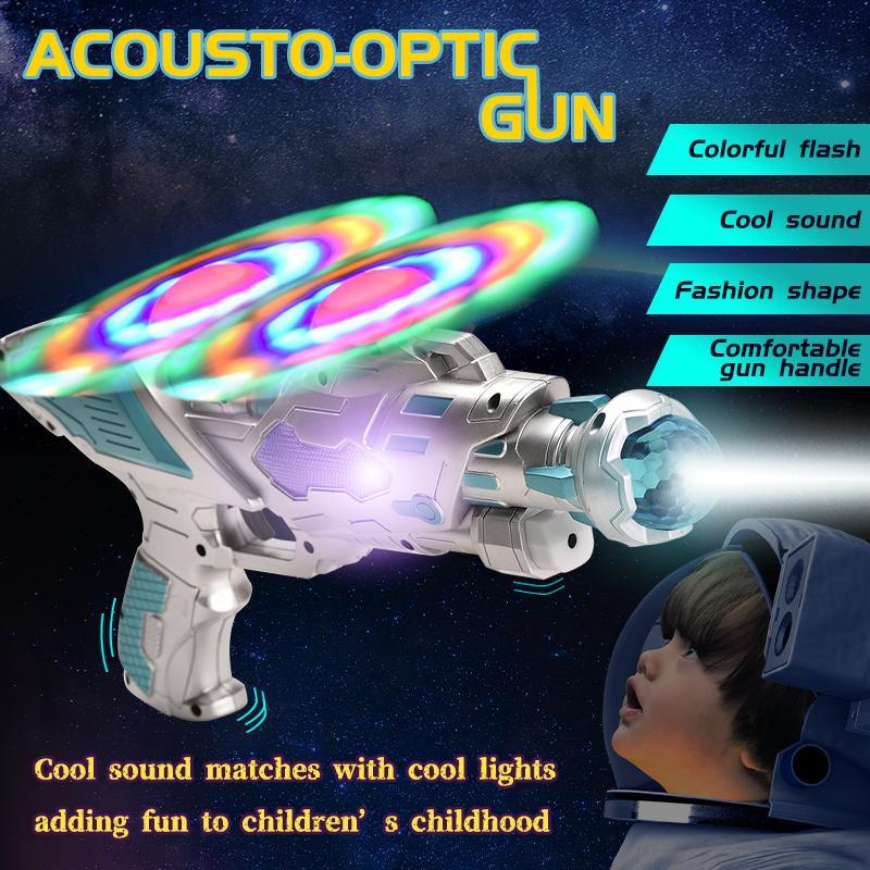 TW1908036 B/O Double Fan Mechanical Gun with Sound Light Acousto-optic Gun