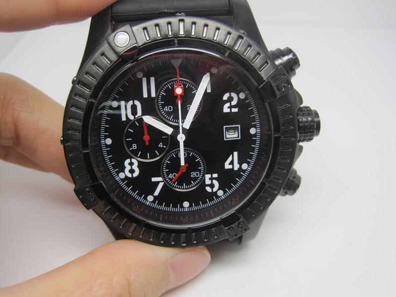 Высокого качество Man спортивных часы кварцевого секундомера резинка часы для мужчин хронографа наручных часов 221