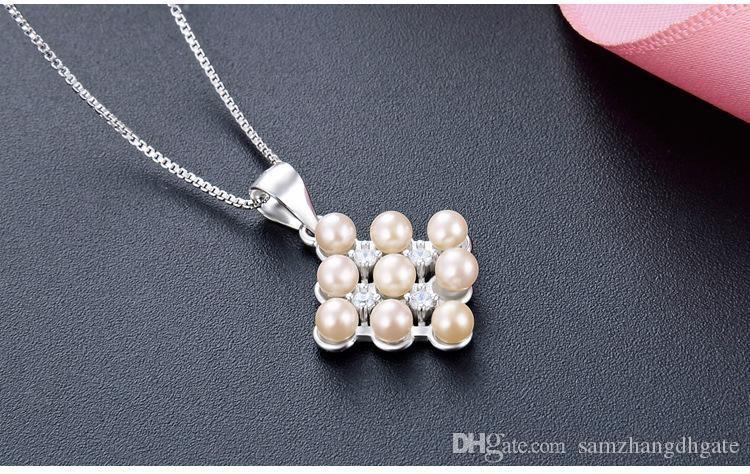 kolyeler moda takı OEM fabrika DD C30 için Sevgililer günü hediyeleri en kaliteli S925 gümüş inci kolye inci gümüş kolye