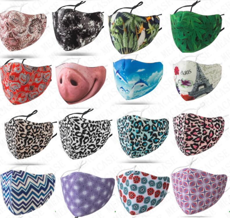 Atacado Máscara Facial Espaço Cotton Designer lavável Resuable Máscara Mulheres Homens contra pó Máscaras ajustável Boca-de mufla com único D71614 pacote